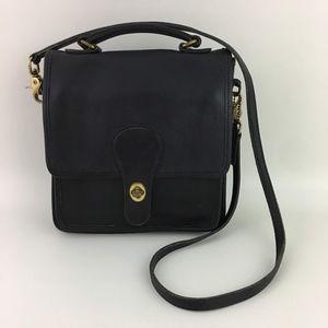 Vtg Coach 5130 Black Station Handbag Purse